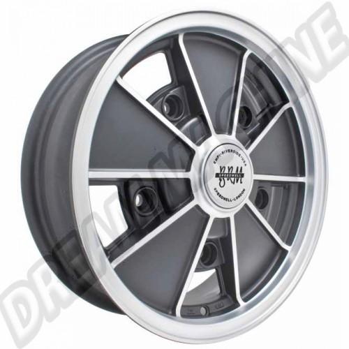 jante BRM réplica noire mat et grise mat 5x15 5 trous 5x205 00-9675-0 Sur www.dream-machine.fr