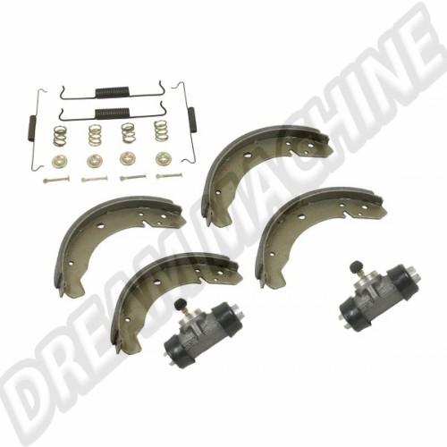 Kit frein ar 8/64-->7/67 Il est composé de: 4 garnitures 2 cylindres de roue 1 kit montage