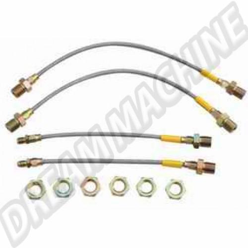 4 flexibles de frein renforcés T1 --> 1964 dm73194 Sur www.dream-machine.fr