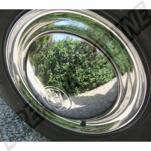 """Cercle de roue en inox 15"""" les 4 look des années 60 AAC099 Sur www.dream-machine.fr"""