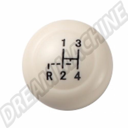 Pommeau de levier de vitesse ivoire diam 12mm T1 + T2 68->79 AC7116107 Sur www.dream-machine.fr