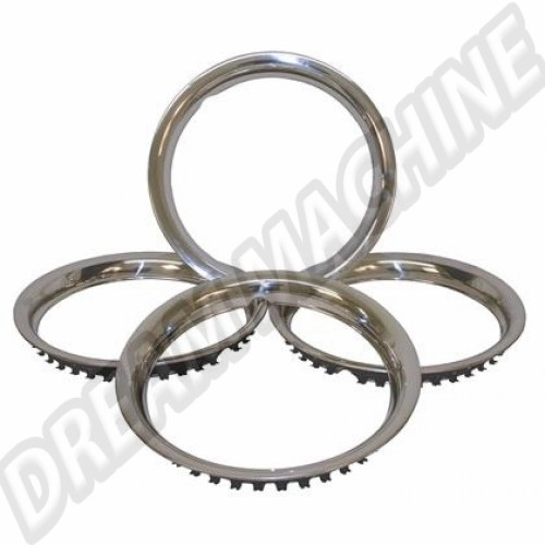 "Cercles de roue Inox 15"" les 4 113698500 Sur www.dream-machine.fr"
