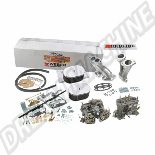 Kit complet 2 Carburateurs double corps WEBER 40 IDF VW weber40idf Sur www.dream-machine.fr