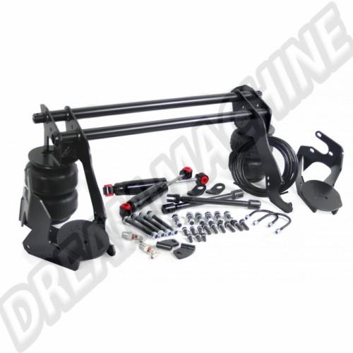 Kit de suspension pneumatique pour essieu oscillant a trompette arrière (boulonné)