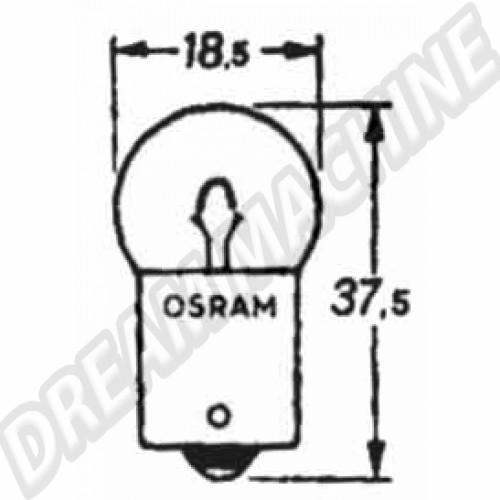 Ampoule d'éclairage de plaque arrière 12V. l'unité N0177192 Sur www.dream-machine.fr