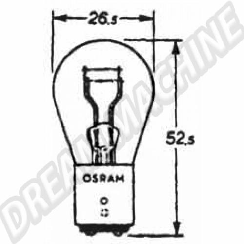 Ampoule de feu arrière et feu stop 6V. double filament N177371 Sur www.dream-machine.fr