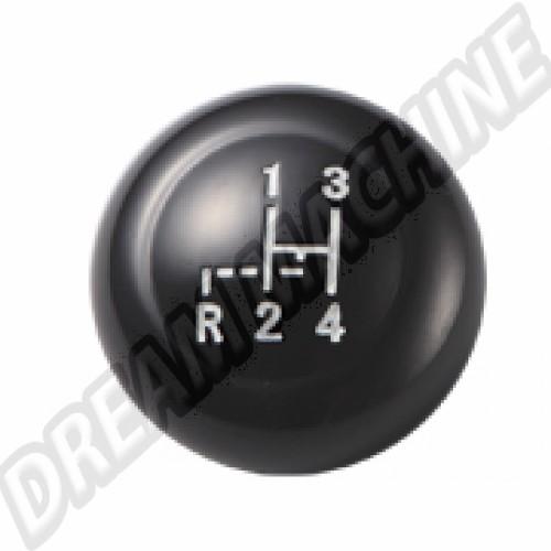 Pommeau de levier de vitesse noir diam 10mm T1-->61 T2-->67 50910BK Sur www.dream-machine.fr