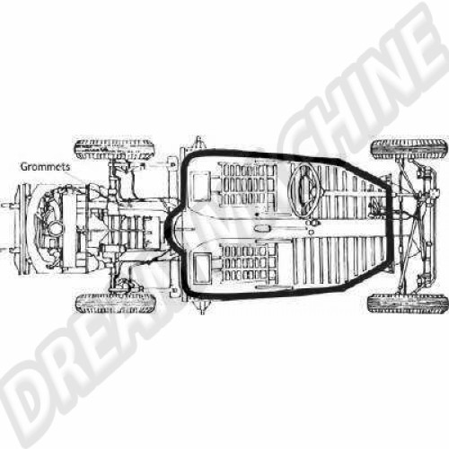Joint de chassis tous modèles en caoutchouc 113701605 Sur www.dream-machine.fr