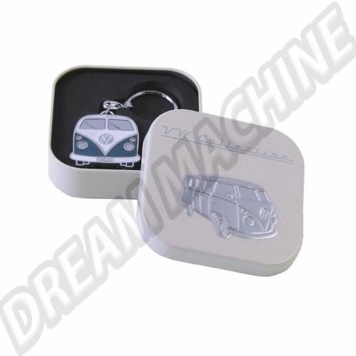 Porte clés Combi bleu avec sa boite en métal PC9065 Sur www.dream-machine.fr