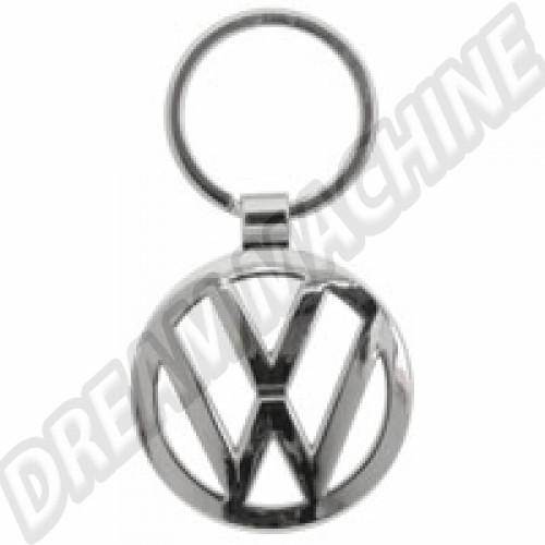 Porte clés chromé logo VW