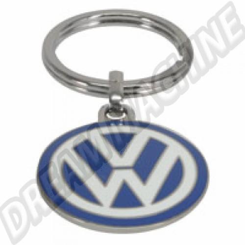 Porte clés émaillé logo VW diamètre 3cm 80087010 Sur www.dream-machine.fr