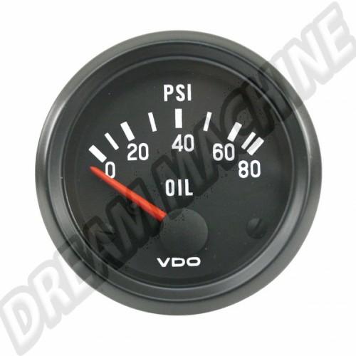 manometre de pression d'huile 0-5 bars diam 52mm VDO v350040 Sur www.dream-machine.fr