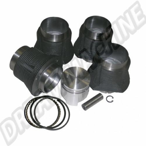 Kit cylindrée 2056cc pistons plats 96mm pour moteur Type 4 2000cc  DM01832 Sur www.dream-machine.fr