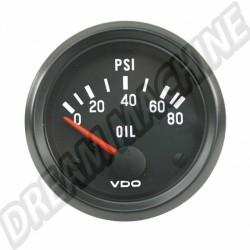 manometre de pression d'huile 0-5 bars diam 52mm VDO